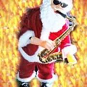 Singing Santa Art Print