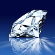 Single Blue Diamond Art Print
