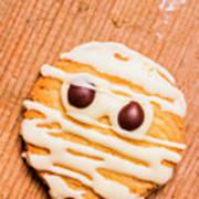 Single Homemade Mummy Cookie For Halloween Art Print