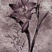 Single Lily-vintage Series  Art Print