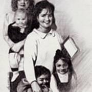 Single Mothers Art Print
