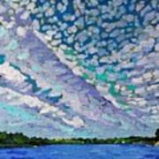 Singleton Altocumulus Morning Art Print