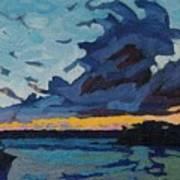 Singleton Sunset Stratocumulus Art Print