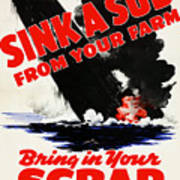 Sink A Sub From Your Farm Art Print