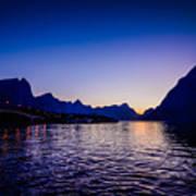 Sinset Over Lofoten Islands Art Print