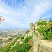Sintra Castle Aerial Art Print