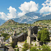 Sion Old Town In Switzerland Art Print