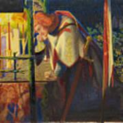 Sir Galahad At The Ruined Chapel Art Print