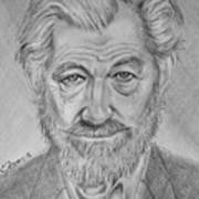 Sir Ian Machellen Art Print