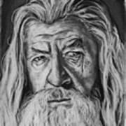 Sir Ian Mckellen As Gandalf The Grey Art Print