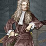 Sir Isaac Newton, British Physicist Art Print by Sheila Terry