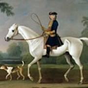 Sir Roger Burgoyne Riding 'badger' Art Print