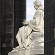 Sir Walter Scott Statue Art Print