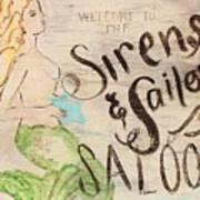 Siren Saloon Art Print