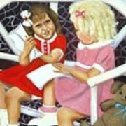 Sister Chat Art Print