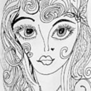 Sisterhood Of The Doodling Pens 4 Art Print