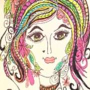 Sisterhood Of The Doodling Pens 5 Art Print