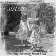 Sisters-black And White Art Print