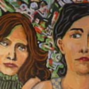 Sisters In Art Art Print