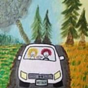 Sisters Road Trip Art Print