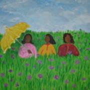 Sisters Talk Art Print