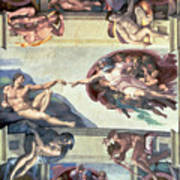 Sistine Chapel Ceiling Creation Of Adam Art Print