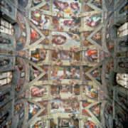 Sistine Chapel Ceiling Art Print
