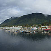 Sitka Alaska From The John O'connell Bridge Is A Cable-stayed Bridge 2015 Art Print
