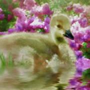Sitting Among The Lilacs Art Print