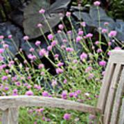 Sitting Amongst A Wildflower Garden Art Print