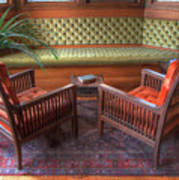 Sitting Area At Frank Lloyd Wright Home And Studio Art Print