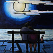 Sitting In The Moonlight. Art Print