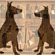Sitting Proud Dogs And Ancient Egypt Art Print