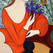Sitting Women Art Print