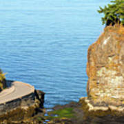 Siwash Rock By Stanley Park Seawall Art Print