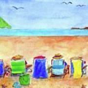 Six Beach Amigos Art Print
