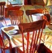 Six Chairs Art Print
