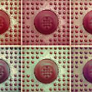 Six Panel Dot And Cube Landscape Art Print
