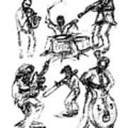 Six Musicians Art Print