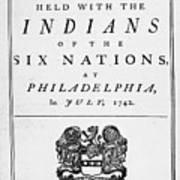 Six Nations Treaty, 1742 Art Print by Granger