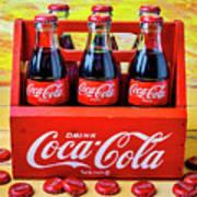 Six Pack Of Cokes Art Print