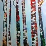 Six Tall Trees Art Print