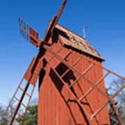 Skansen Windmill Art Print
