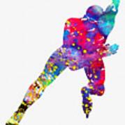 Skating Man-colorful Art Print