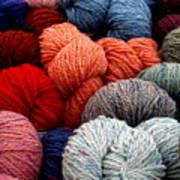 Skeins Of Yarn Art Print
