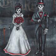 Skeleton Bride And Groom Aka Amor Sencillo Art Print