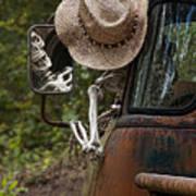 Skeleton Crew - Skeleton Driving A Vintage Truck Art Print