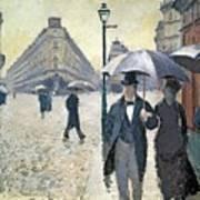 Sketch For Paris A Rainy Day Art Print