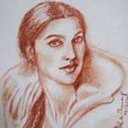 Sketch In Conte Crayon Art Print