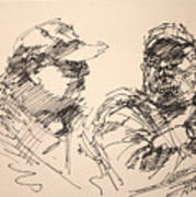 Sketch Men At Tims Art Print